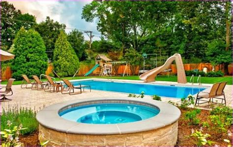 cool backyards inground swimming pool designs best kidney shaped