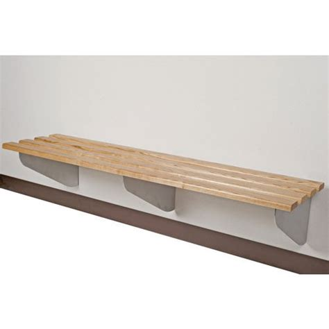 wall bench classic aero wall mounted bench cloak changing room