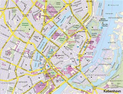 copenhagen map copenhagen denmark tourist attraction travel guide tourist destinations