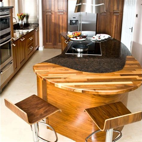 curved island kitchen designs interesting wooden insert in this curved island bench we