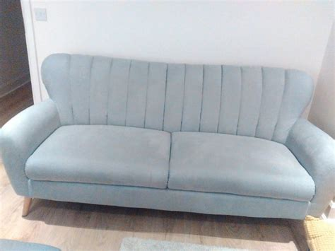light blue sofas for sale stylish comfortable light greyblue fabric sofa chair