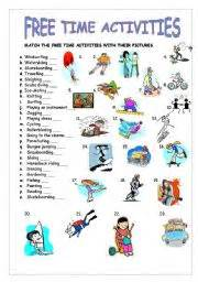 english teaching worksheets free time activities