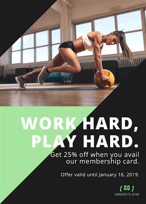 fitness flyer free flyer maker design custom flyers with canva