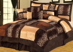 new brown bed in a bag animal print leopard short fur