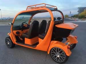 Gem Electric Car Cover Tangelope Orange Custom Gem Car By Innovation Motorsports