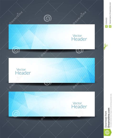 beautiful blue color beautiful blue color header designs stock vector image