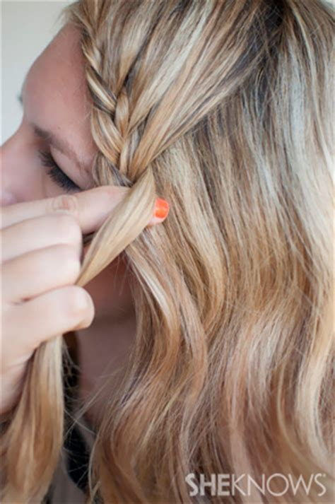 lace braid step by step how to lace braid hairstyle tutorial
