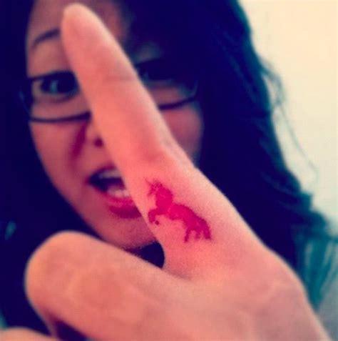 finger tattoo unicorn 17 best images about unicorn tattoos on pinterest the
