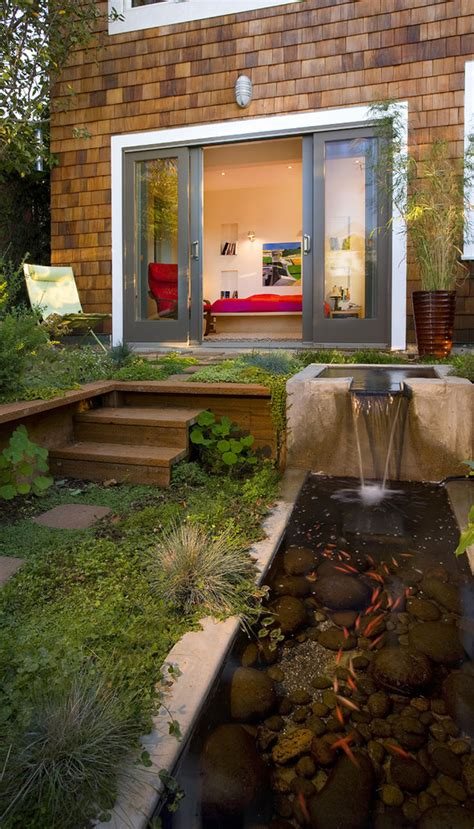 Cool Patio Designs 67 Cool Backyard Pond Design Ideas Digsdigs
