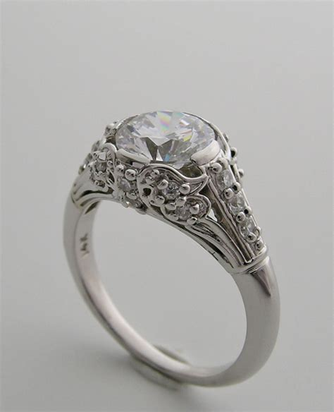 Engagement Ring Settings by Purchase Beautiful Deco Antique Style Accent