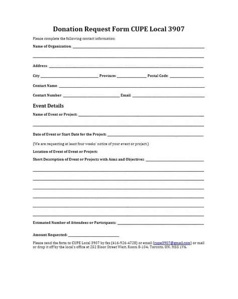 43 Free Donation Request Letters Forms Template Lab Sponsorship Request Form Template