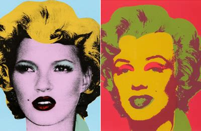 Warhol Vs Banksy Exhibition Features Kate Moss Image by Arte Op