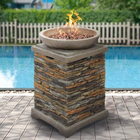chiminea lava rocks best choice products outdoor fire bowl firepit with lava