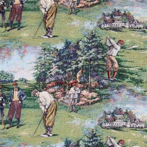 golf upholstery fabric upholstery golf fabric by the yard golfing scene
