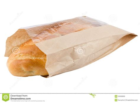 How To Make Paper Bread - bread in paper bag isolated on white stock photo image