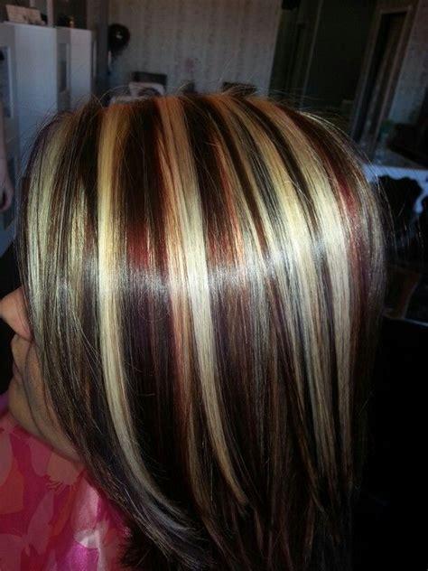 red blonde brown highlights lowlights short