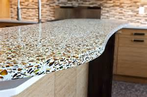 Recycled Glass Countertops Awesome Kitchen Counters With Recycled Glass 3428