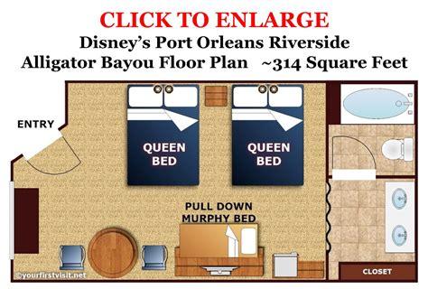 Disney Art Of Animation Family Suite Floor Plan by Disney S Port Orleans Riverside Alligator Bayou Standard 5 Person Room Floor Plan From