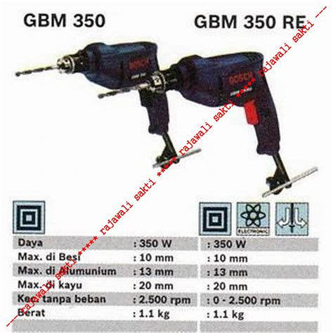 Mesin Bor Bosch Gbm 350 jual bosch mesin bor bosch drills 10mm 350w gbm 350 pd