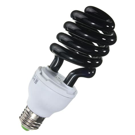 black spiral cfl light bulb uv ultraviolet spiral low energy saving cfl light bulb e27