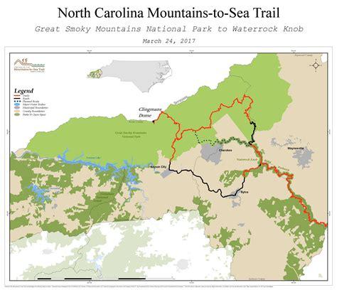 gsmnp trail map future plans mountains to sea trail