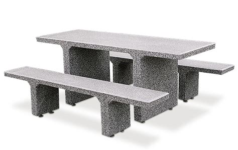 concrete picnic table and benches rectangular concrete picnic table with seperate benches