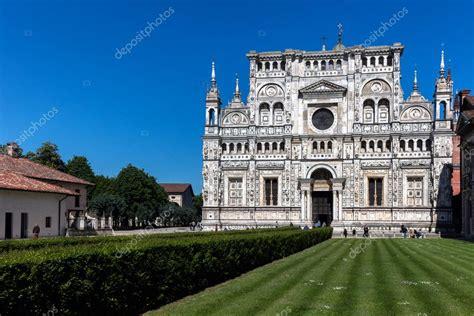 monastero certosa di pavia monastero certosa di pavia italia foto editoriale stock