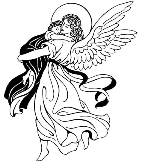 coloring pages of guardian angels guardian angel catholic coloring page feast of the