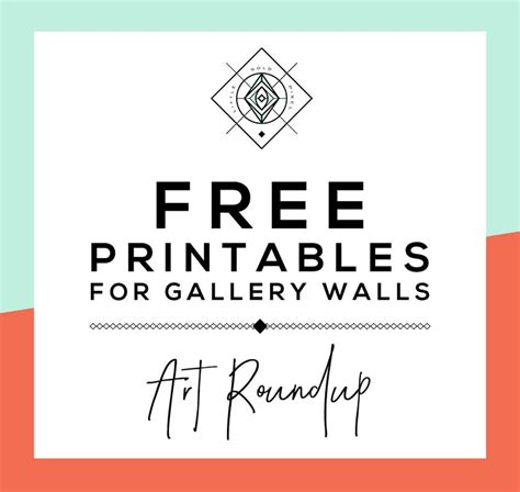 printable free images roundup free printables for gallery walls little gold pixel