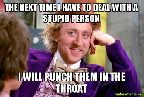 Punch Meme - the next time i have to deal with a stupid person i will