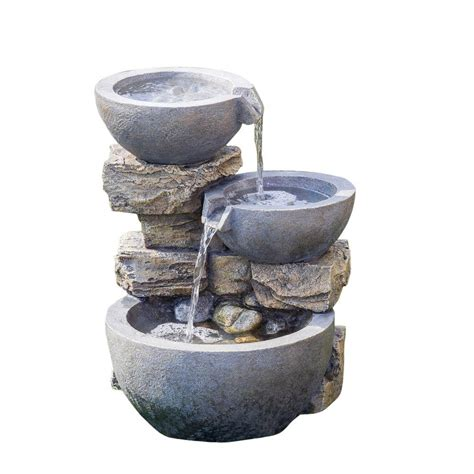 jeco rock and pot water fcl073 the home depot