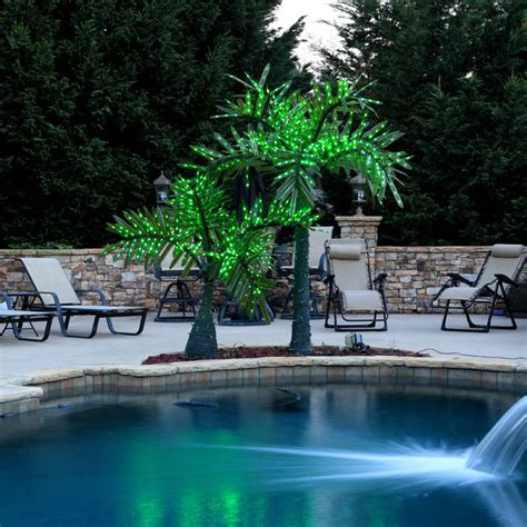 led realistic palm trees contemporary pool atlanta