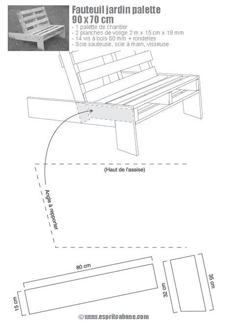 Plan Chaise De Jardin En Palette by Fauteuil De Jardin En Palette Esprit Cabane Idees