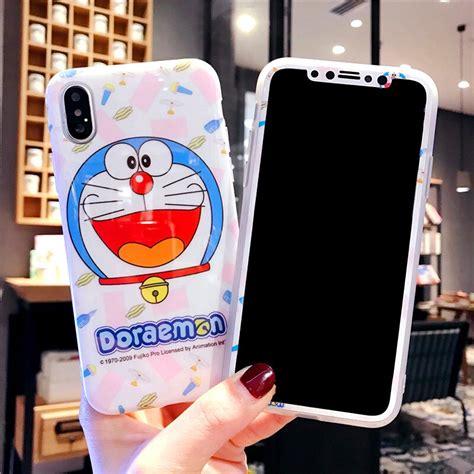 doraemon  iphone  tpu case tempered glass  iphone