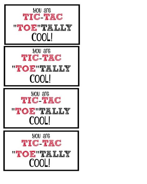 tic tac quot toe quot tally cool free printable valentine daze