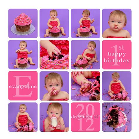 cake smash collage template free cake smash template story board template by sugarpickledesigns