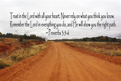 red dirt road proverbs 3 5 6 photograph by robyn stacey