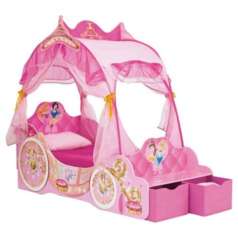 disney princess carriage toddler bed buy disney princess carriage bed frame from our storage beds range tesco