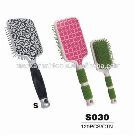 pattern paddle brush novelty hair brush rubber pad new pattern design paddle