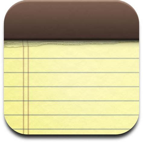 iphone / ipod touch notes icon | jjslash04 | flickr