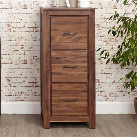 walnut filing cabinet 3 drawer inadam furniture 3 drawer filing cabinet modern living