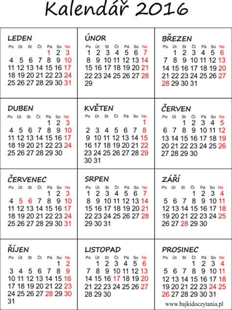 Calendar J K 2016 Kalend 225 ř 2016 K Vytisknut 237 Pdf Edukacyjne Bajki Do Czytania