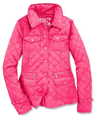 dollhouse quilted barn jacket macy s