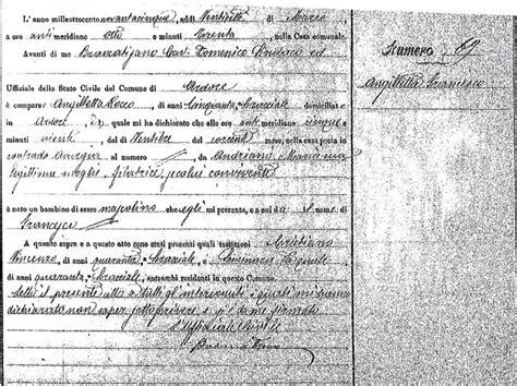 Birth Records Calabria Italy Angilletta Francesco Ardore