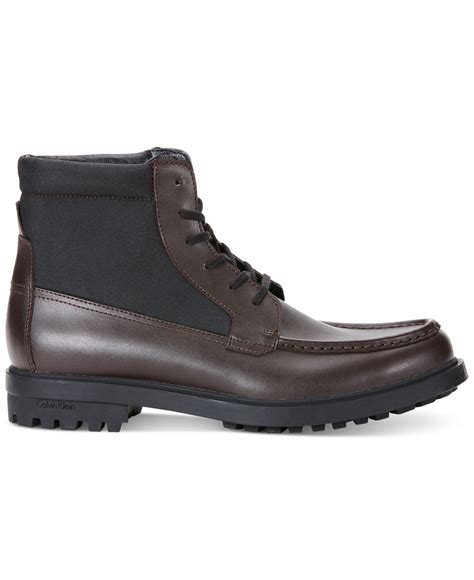 klein boots calvin klein garry boots in brown for lyst