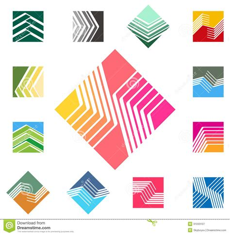 pattern logo design square vector logo template royalty free stock
