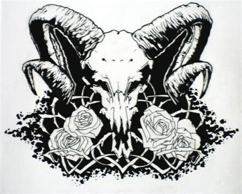 satanic tattoos satanic ram