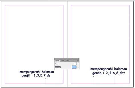 membuat nomor halaman di indesign cs6 membuat halaman otomatis di in disaen kelas desain