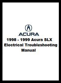 car repair manuals online pdf 1999 acura slx security system 1998 1999 acura slx electrical troubleshooting manual