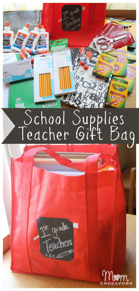 Can U Get Money Back From A Gift Card - teacher school supplies gift bag bagitforward cfk